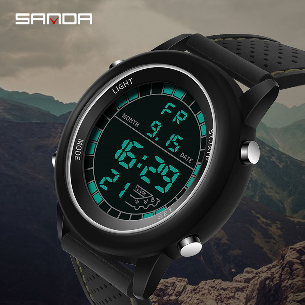 da054af1a58 SANDA Luxury Military Sport Watches Waterproof Steel Case Digital Mens Top  Fashion Brand Clock Male Relogio Masculino