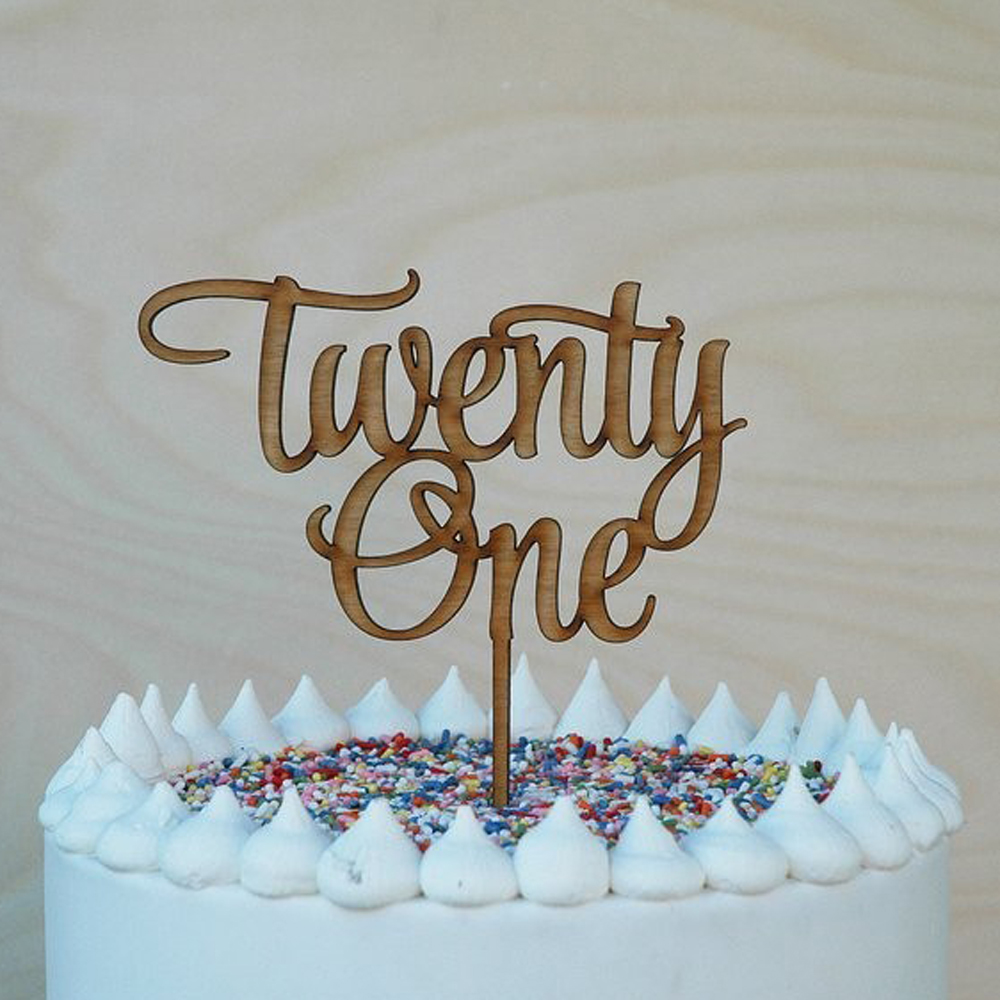 21st Birthday Cake Ideas.Us 4 74 5 Off Twenty One 21st Birthday Cake Topper Acrylic Cake Topper 21st Anniversary Wedding Cake Topper Decorations Supplies In Cake