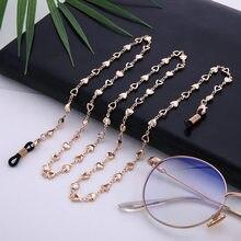 Teamer 78cm Glasses Heart Chain Strap Eyeglass Metal Chain Reading Glasses Cord Holder Neck Strap Ro