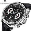 PAGANI DESIGN Sports Quartz Watches Japan OS20 Movt Top Brand Military Leather Black Man Clock Fashion Chronograph Wristwatches 1