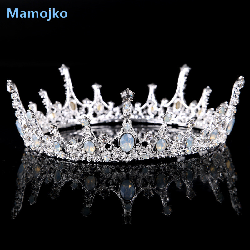 Mamojko 2017 Fashion Jewery Crystal Queen Crown For Woman Wedding Charms Tiara For Bride Hair Accessories Good Quality