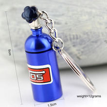 Fashion Metal Keyring Car Keychain Auto Key Chain Key Ring Holder Keyfob For NOS Turbo Nitrgen Bottle Car Styling Gift Pendant