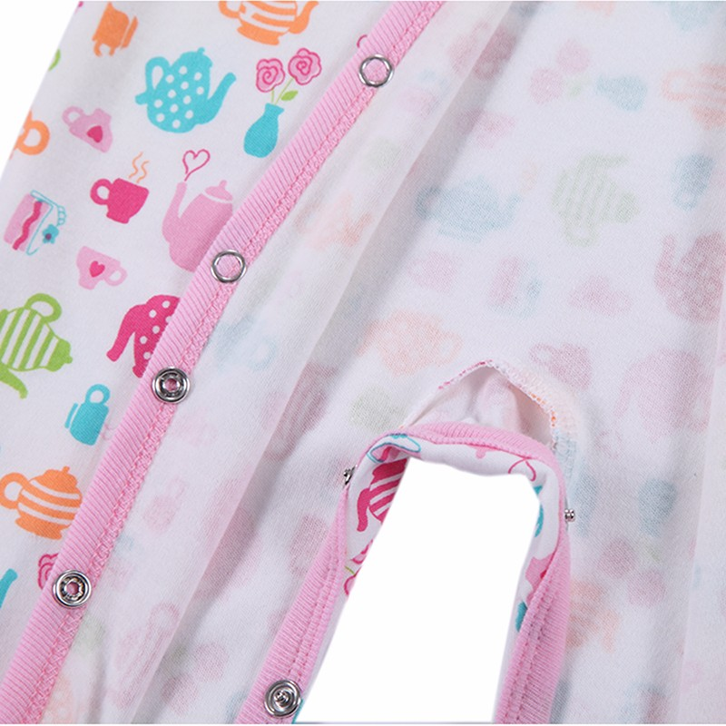 0-12 M Baby Romper Long Sleeve Pink Stripped 100% Cotton Baby Jumpsuit Newborn Baby Girl Clothes Infant Clothing Bebe Overall (2)