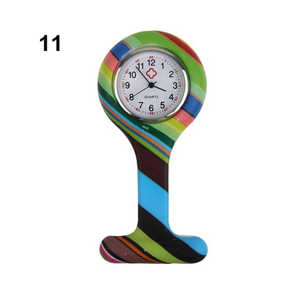 Pocket Watch Clip-on Fob Quartz Brooch Hanging Rubber Silicone Nurse Watch 2019 Casual Men Women Unisex relogio feminino saat