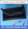 Настольная розетка/Скрытый/USB интерфейс сети RJ45  розетка для информации/Офисная конференц-зала  высокосортная настольная розетка S-615