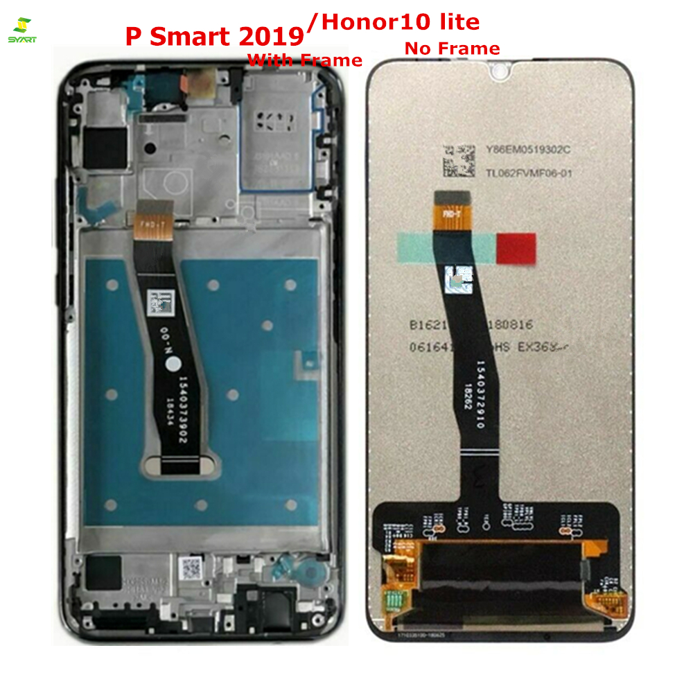 6.21 LCD Con Cornice Per Huawei P di Smart 2019 Honor 10 Lite LCD Display Touch Screen Digitizer Assembly Per P di smart 2019 di Riparazione6.21 LCD Con Cornice Per Huawei P di Smart 2019 Honor 10 Lite LCD Display Touch Screen Digitizer Assembly Per P di smart 2019 di Riparazione