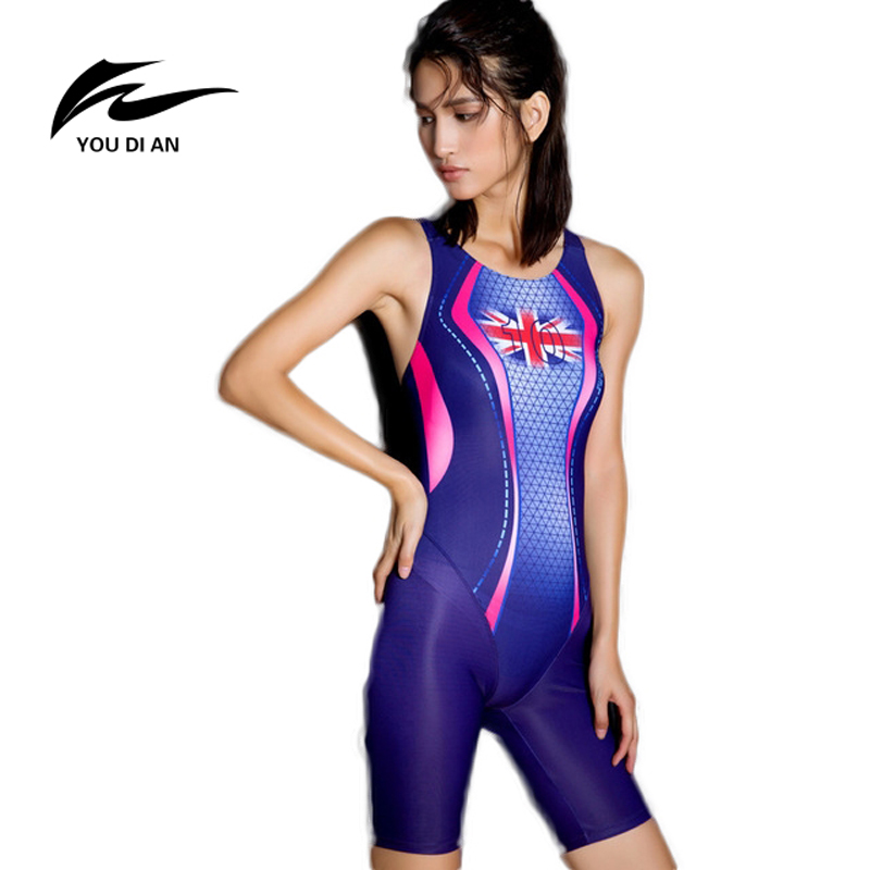 Swimsuits Competitive Swimming Suits Girls Racing Swimwear Women Competitive Sharkskin Swim Suit Competition Swimsuit Knee NEW