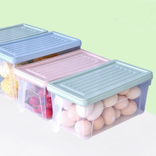 VKStory Life House Square Storage Box For Food Refrigerator Keep Fresh Vegetable Egg Big Space