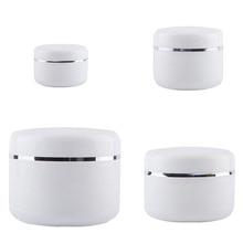 30Pcs 20g 30g 50g 100g 250g Cream Jar,White Plastic Makeup Container,PP Sample Cosmetics Box,Mask Canister Refillable Bottles
