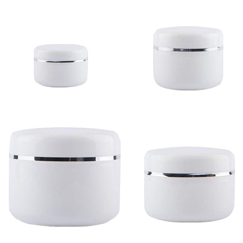 30Pcs 30g 50g 100g 250g Cream Jar,White Plastic Makeup Container,PP Sample Cosmetics Box,Empty Mask Canister Refillable BottlesRefillable Bottles   -