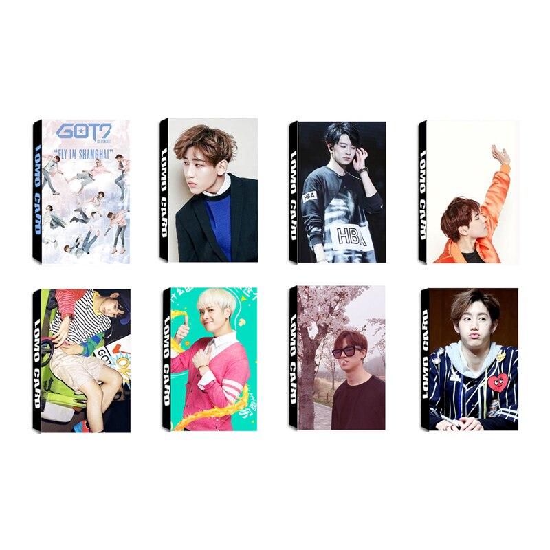 Kpop Got7 Fly Album Mark Jackson Yugyeom Lomo Cards K-pop New Fashion Self Made Paper Photo Card Hd Photocard Beads & Jewelry Making