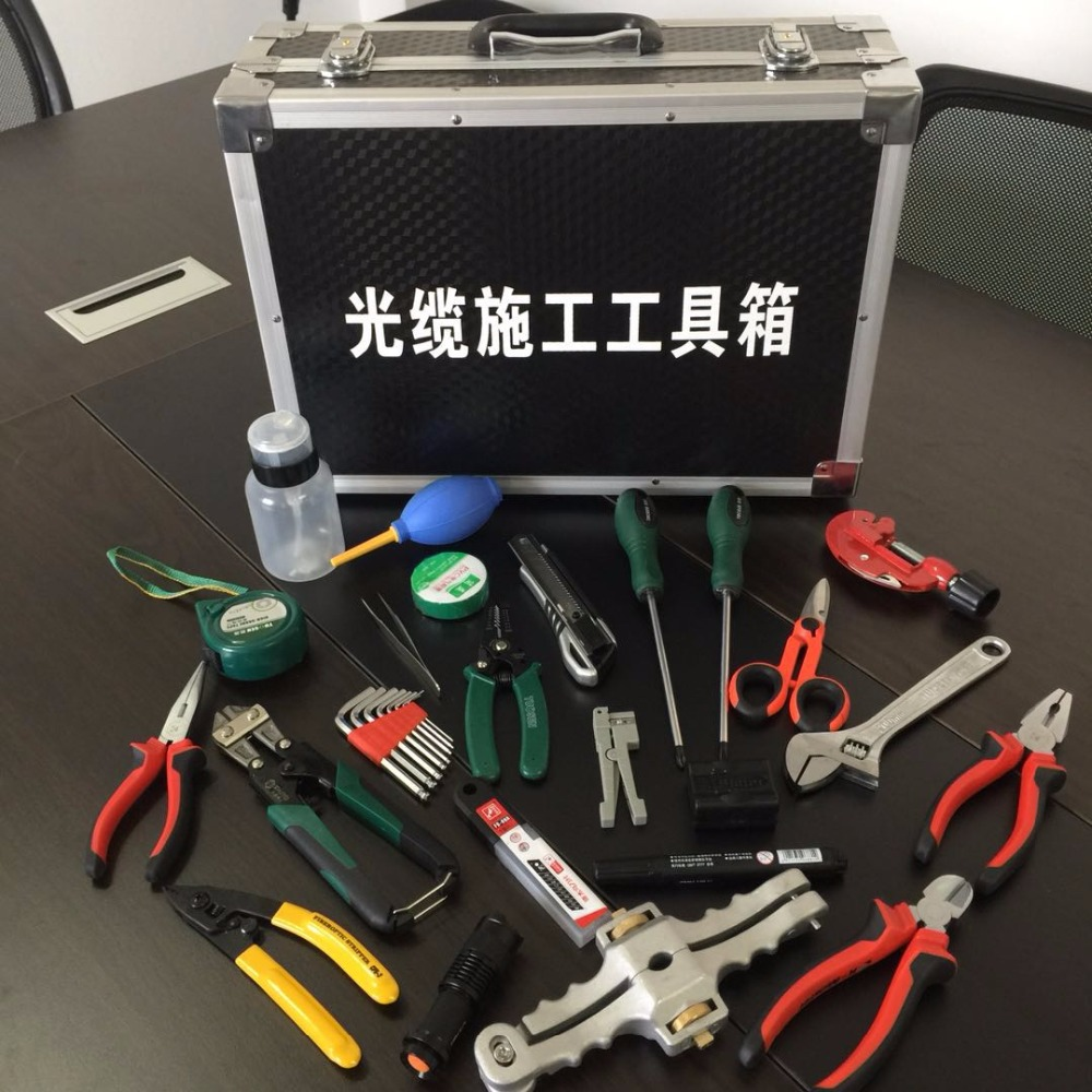 FTTH Tools Kit 25set High Value Fiber Optic FTTH Tool Kit with SI-01 and Slitter and IDEAL 45-162 and StripperFTTH Tools Kit 25set High Value Fiber Optic FTTH Tool Kit with SI-01 and Slitter and IDEAL 45-162 and Stripper
