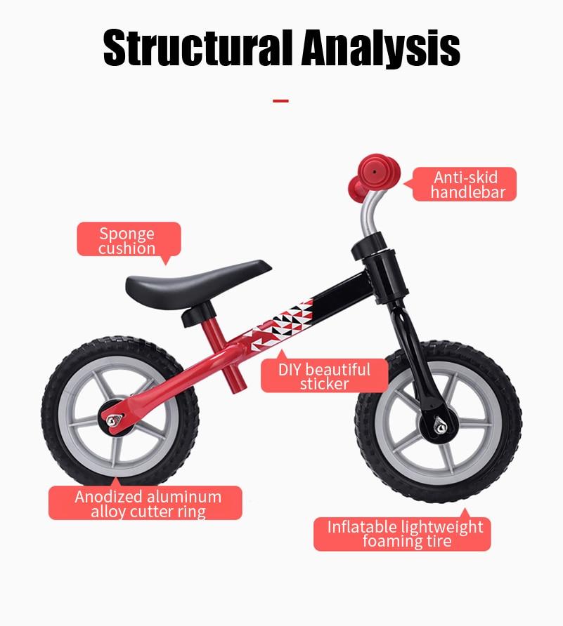 WEST BIKING Children's Bike Pedal-less Balance Bicycle Balance For 2-4 Years Old Anti-skid Baby Walker Children Balance Bike