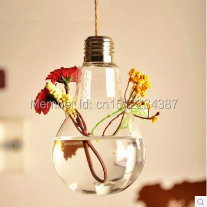 Discount European Glass Bulb Vase Vase Hydroponic Iron Crafts