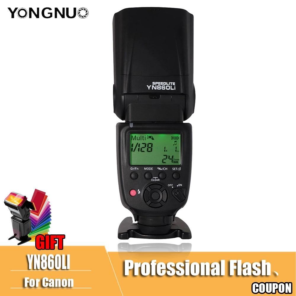 Yongnuo YN860Li Wireless Flash Speedlite con 1800 mah Batteria Al Litio per Nikon Canon Compatibile YN560III YN560IV YN560-TX RF605
