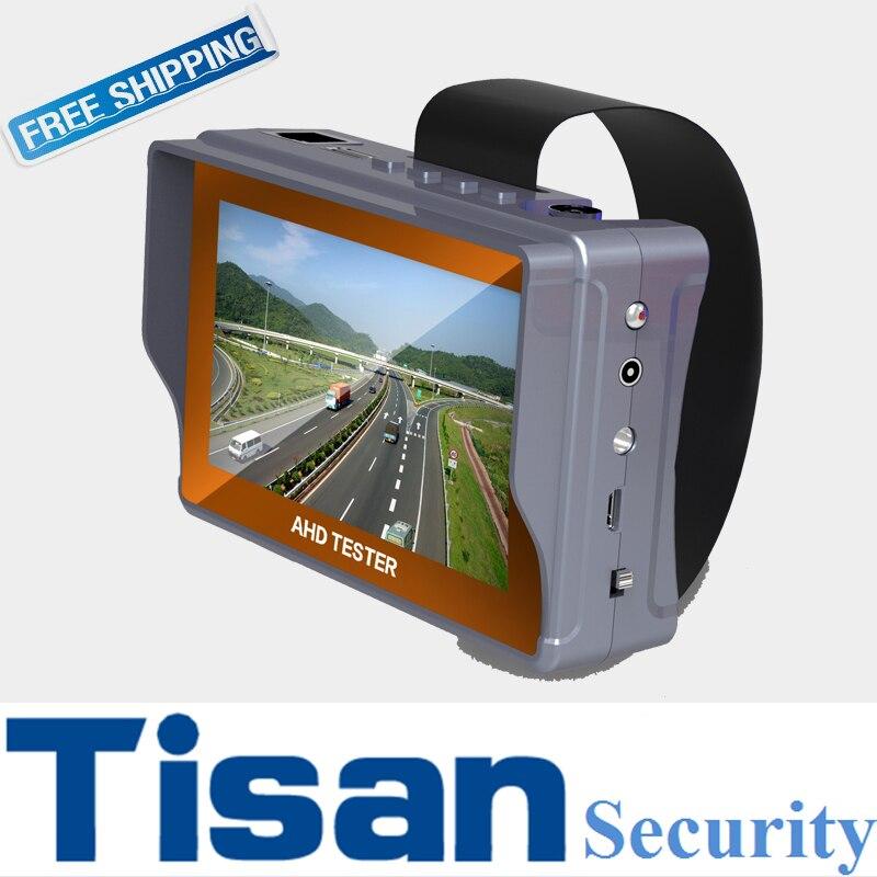 New AHD Camera tester 4.3 inch TFT LCD Analog CVBS AHD CCTV tester monitor for security Analog camera