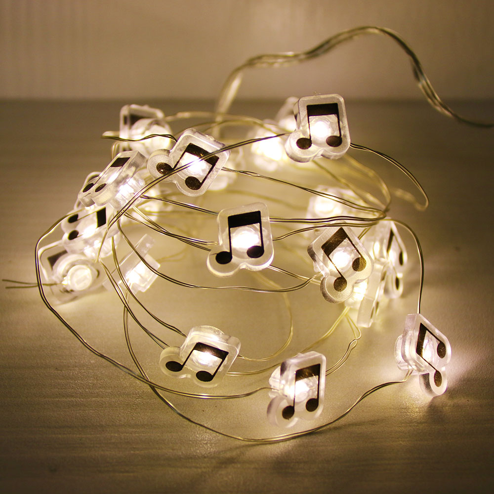 Music Note Shape LED 2.2M Copper Wire String Lights Waterproof Holiday Lighting For  Wedding Party Decoration Light