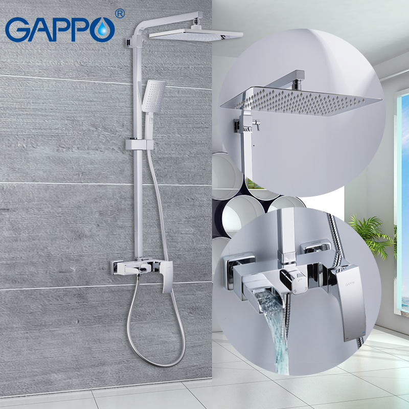 GAPPO Bathtub faucets massage showers for bathroom wall mounted shower heads chrome polished waterfall rainfall bath