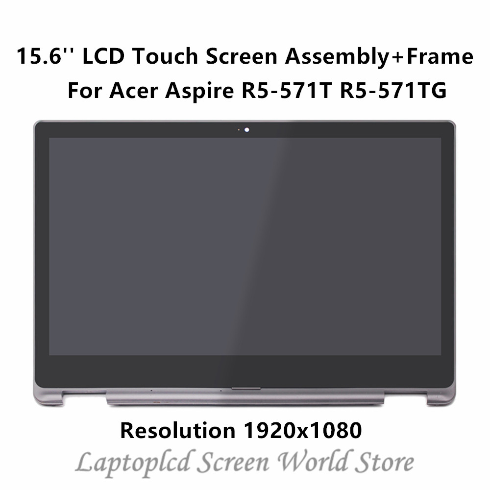 FTDLCD 15 6 FHD LCD Touch Screen Digitizer Assembly Frame N156HCA EA1 For font b Acer