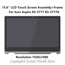 "FTDLCD 15.6"" FHD LCD Touch Screen Digitizer Assembly + Frame N156HCA-EA1 For Acer Aspire R5-571T R5-571TG 1920×1080"