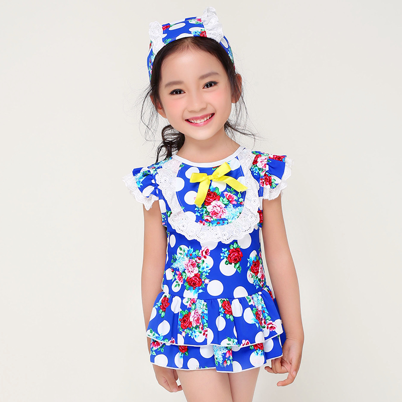 2018 New Summer Girls One Piece Kids Cute Flower and White ...