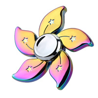 Hot Sale Multicolor Metal 2017 New Arrival Rainbow Bauhinia Flower Star Fidget Spinner Hand Finger Gyro