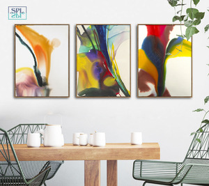 Image 3 - Watercolor Canvas Art Print Ink Painting Abstract Chinese Graffiti Artwork Posters Modern Fashion Home Decoration Wall Pictures