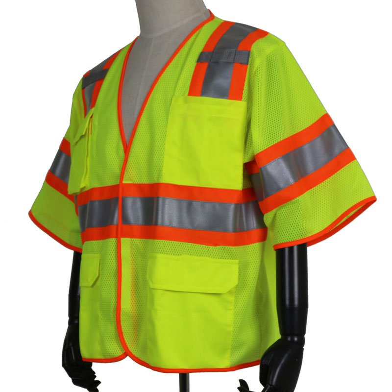 Reflective safety short-sleeved multi-purpose striking hit color design reflective clothing reflective safety short sleeved multi purpose service