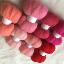 WFPFBEC – poupée de feutrine, 90g 10 g/sac, mélange de fibres de laine, wolvilt feltro lana mérinos, pour feutrine à aiguille, bricolage