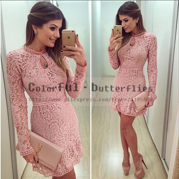 Moda feminina vestido de renda