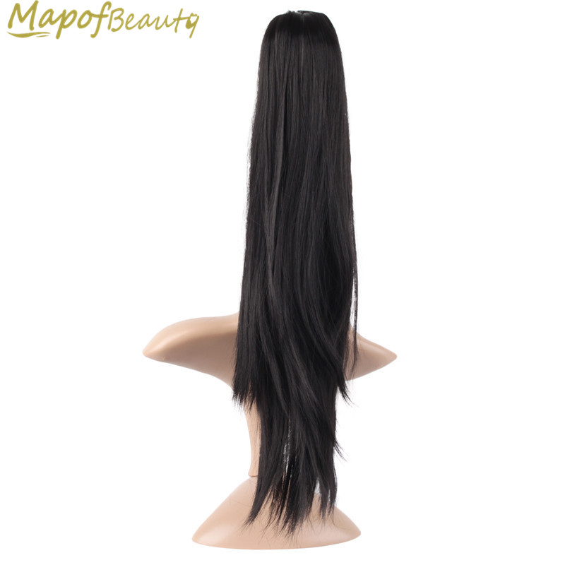 Hair Extensions & Wigs Mapofbeauty 16 20 Long Straight Claw Ponytail Black Orange Clip In Hair Extensions Heat Resistant Synthetic Women Hairpiece
