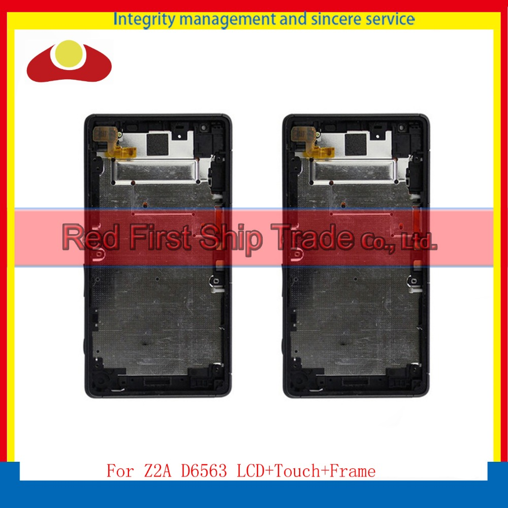 5.0 For Sony Xperia Z2A D6563 Full Lcd Display Touch Screen Sensor Digitizer Panel Assembly Complete With Frame Black+Tracking vel vel 03 06 04 02700