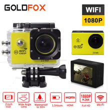 GOLDFOX WiFi Action Camera 2.0 inch Sports DV LCD Screen 1080P FHD Diving 30M go Waterproof pro mini Camcorder Sports Cam
