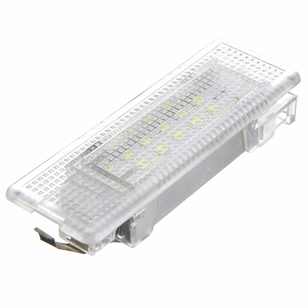 1PC White LED Car Trunk Luggage Interior Light Lamp Error Free For Volkswagen VW Golf MK5 Polo Passat Jetta DC 12V for volkswagen passat b6 b7 b8 led interior boot trunk luggage compartment light bulb
