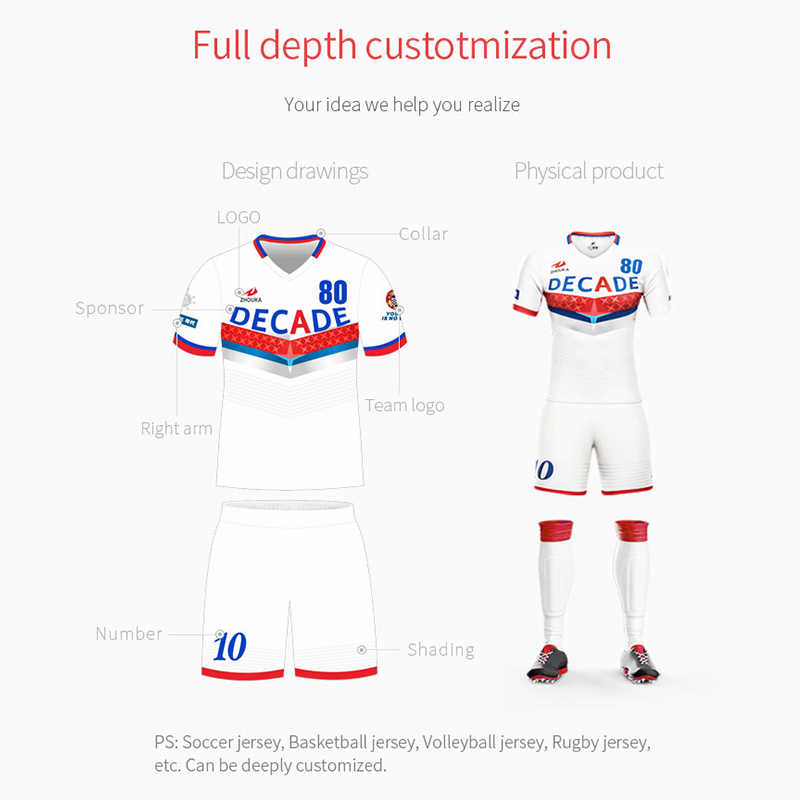 c91da993290 ... Professional design mens football uniforms kit quick dry breathable football  team shirt custom sublimation blank soccer ...