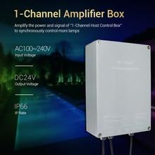 цена MiBOXER led 1-Channel Amplifier Box SYS-PT2 Input AC100~240V Output DC24V Max 200W Waterproof IP66 led light controller онлайн в 2017 году