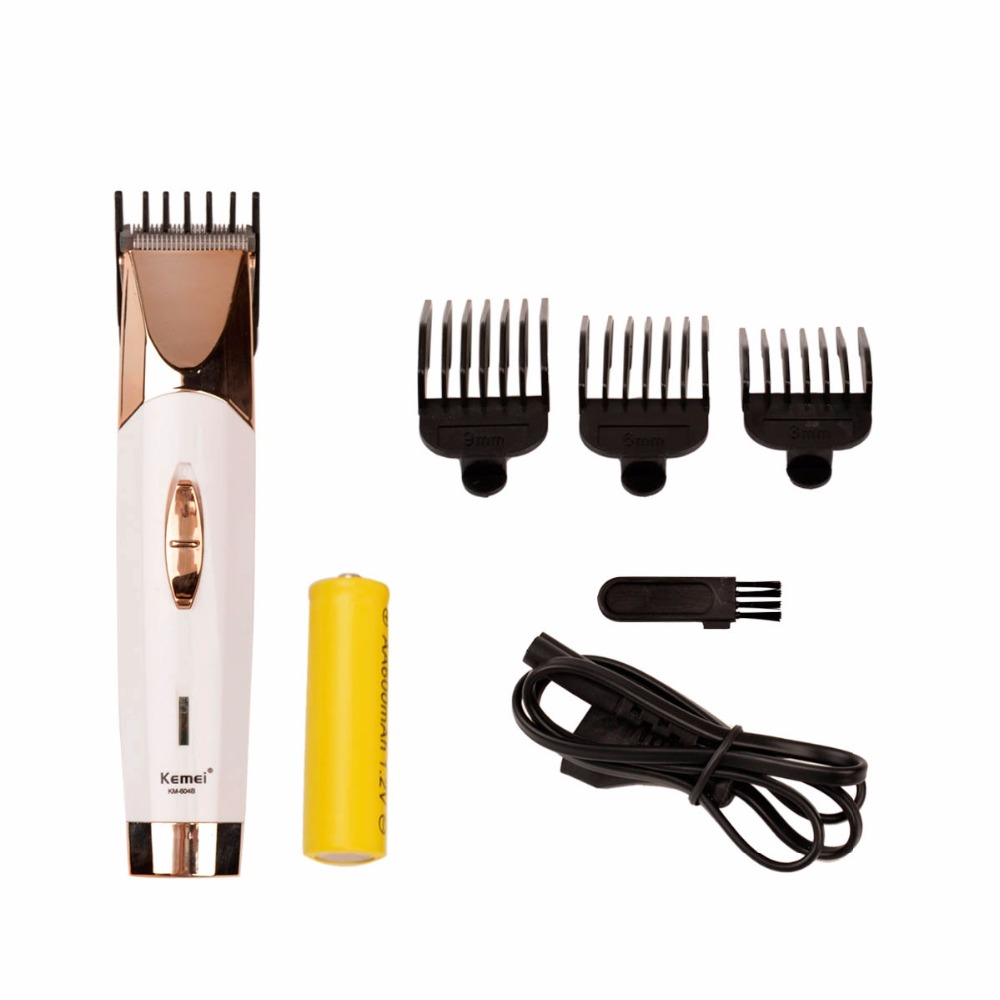 Electric Hair Clipper Cordless Adjustable Hair Cutter Beard Trimer Golden Hair Clipper Grooming Set 3mm 6mm 9mm Limit Combs 0 free shipping kemei professional precision cordless hair clipper for men hair cutter with 7 pcs limit combs and 2 batteries