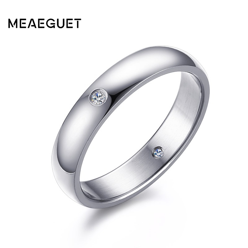 Meaeguet Classic Inside CZ stone Rings for Women Silver Color Female Wedding Rings New J ...