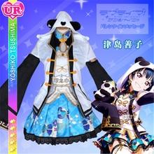 купить 2019 Anime Clothes Love Live Sunshine Aqours Cosplay Costume Yoshiko Tsushima Chinese dress gorgeous cheongsam awaken A дешево
