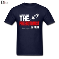 Have No Fear The Phlebotomist Is Here T Shirt Men S Tailored Short Sleeve Crewneck Cotton