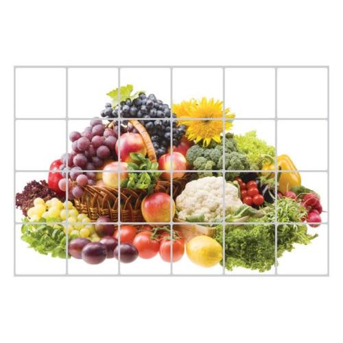 60x90cm wallpaper kitchen decor anti oil self adhesive tile wall paper sticker patternsfruits
