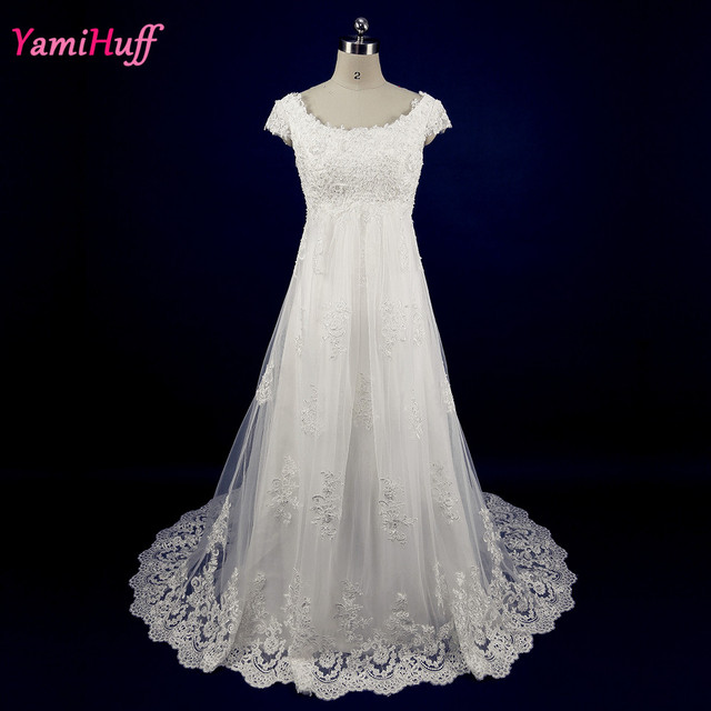 Vintage Ivory Maternity Wedding Dresses For Pregnant Women Lace ...