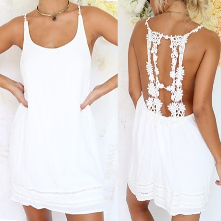 Sexy lace halter neck sewing pattern free sling backpack Cover Ups ...