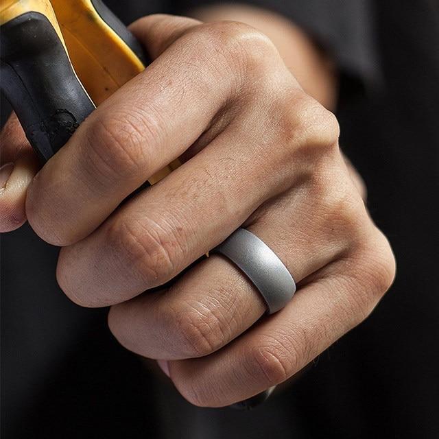 Silicone wedding ring size 7