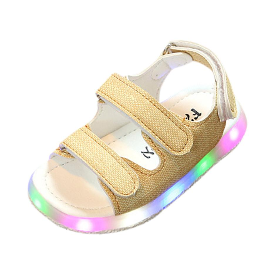 BMF TELOTUNY Fashion Toddler Kids Sport Summer Boys Girls Baby Casual Sandals LED Luminous Shoes Sneakers Apr19 Drop Ship
