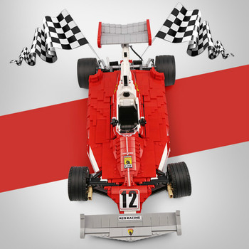 03023 2405PCS The Red Power Racing Car Set Building Blocks Bricks Educational Toys As children Gifts for Kids