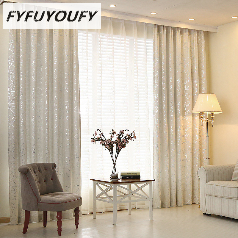 2 Color Modern Luxury Elegant Printed Curtain Window