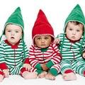 Tarja Bebê Recém-nascido Da Menina do Menino Xmas Romper Jumpsuit Roupas Outfit 0-18 M