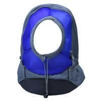New Pet Dog Carrier Shoulder Backpack Bag Outdoor Hiking Camping Travel Holder Colour:Blue Size:S/M