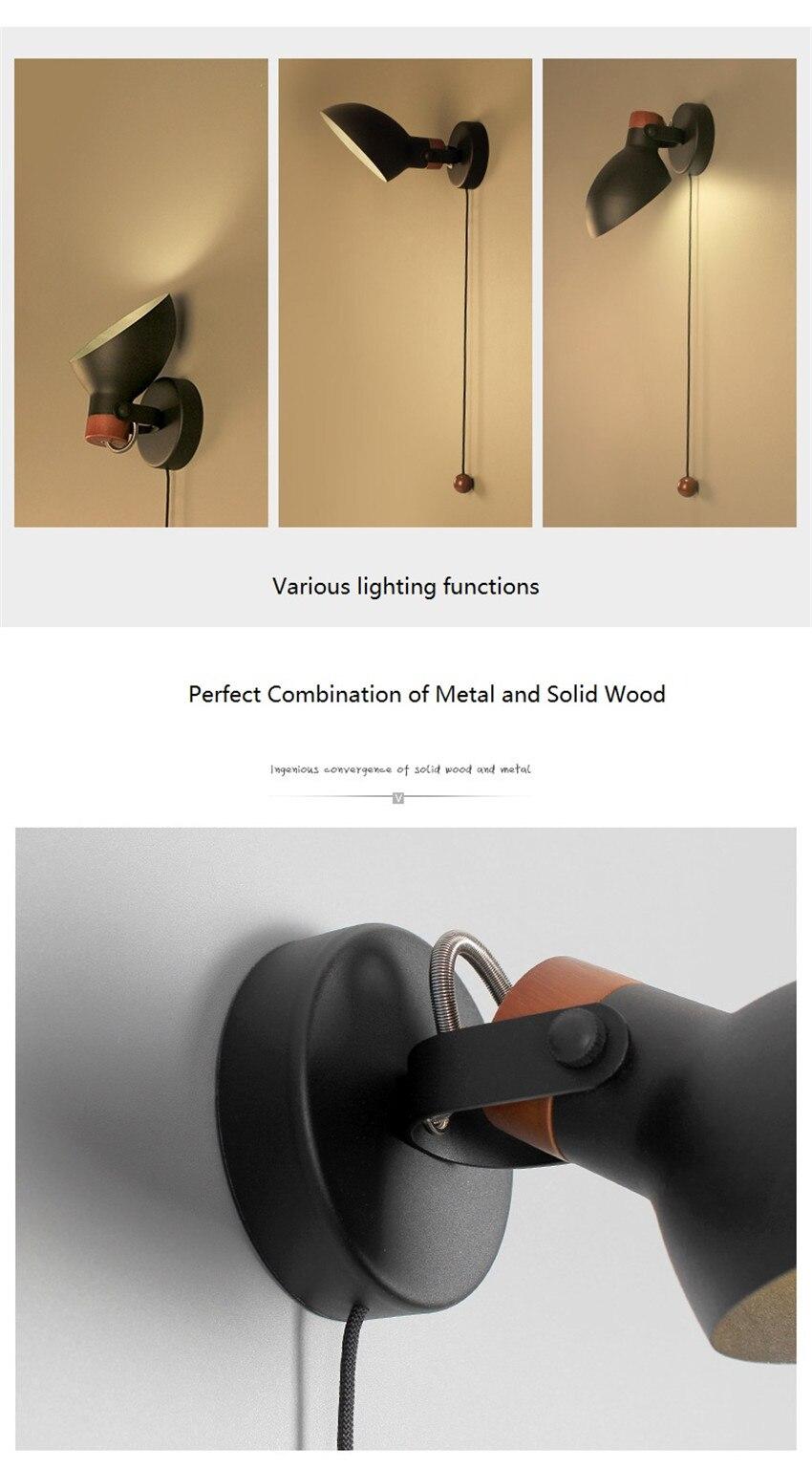 loft decoração ferro puxar interruptor moderno arandela